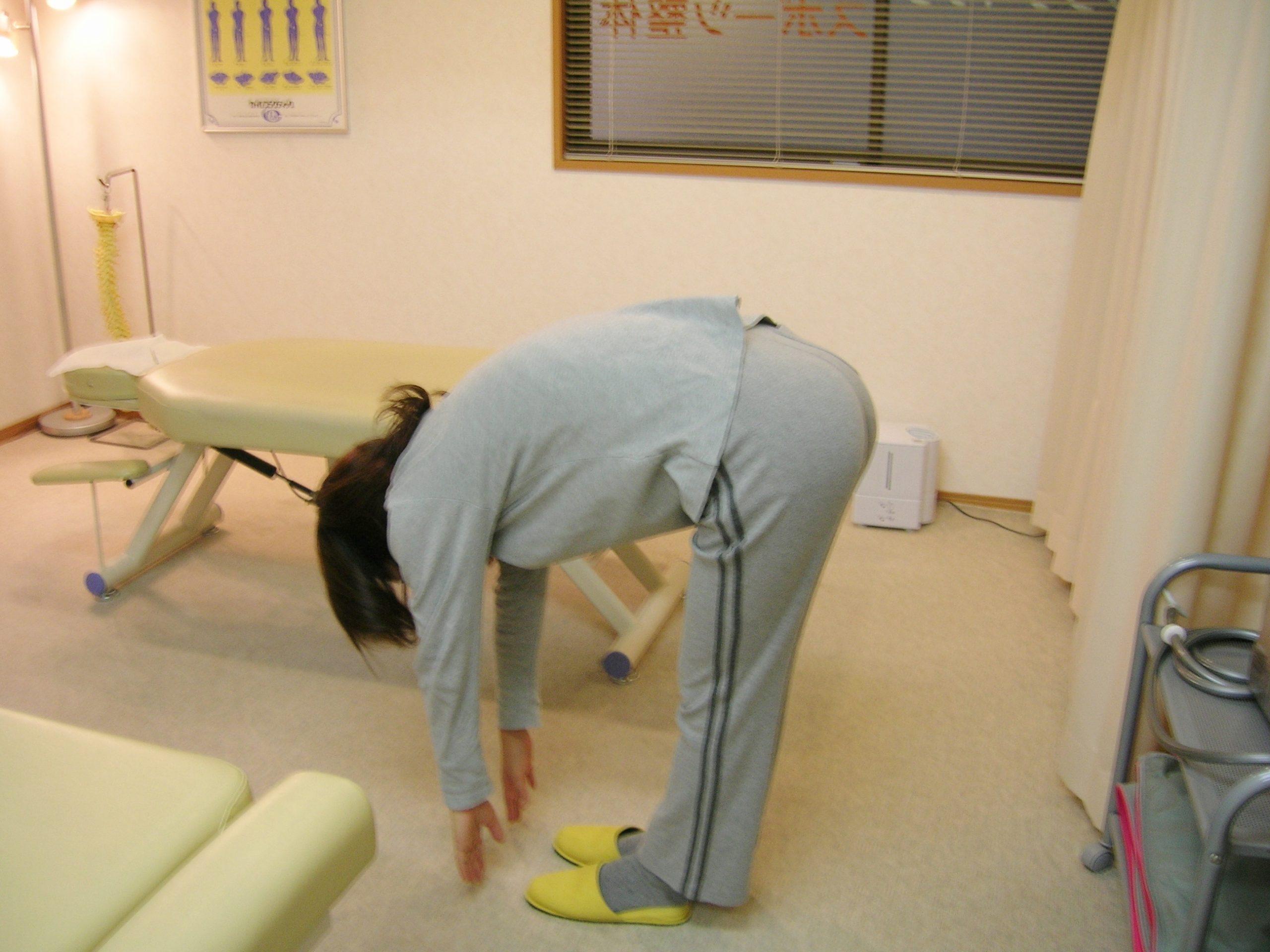 胸腰椎の可動域検査