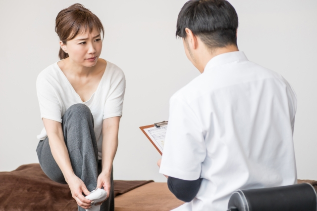 捻挫の問診
